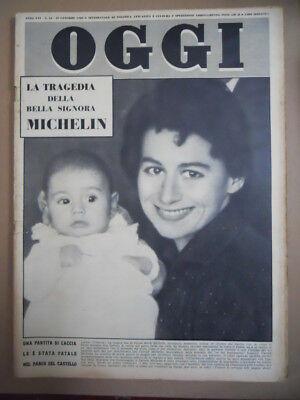 OGGI n°43 1960 La Tragedia della signora Michelin Baby Ottavia Piccolo - Michelin Baby