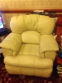 Comfy leather electric recliner