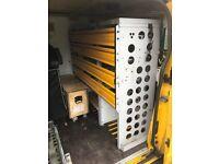 Ex AA Ford Transit Van Racking, ideal for Van or Workshop etc.