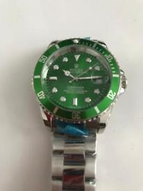 Mens automatic watch green hulk