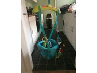 Door way baby bouncer swing