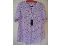 NEW WITH TAGS M & S COTTON BLOUSE - SIZE 16 - (Kirkby in Ashfield)