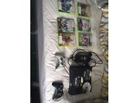 Xbox 360, 2 controllers and 9 games