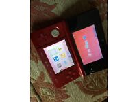 Nintendo 3ds with Pokemon and super Mario games