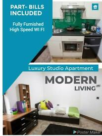 Single Studio 1 Bedroom Fully Furnished Part Bills included in City Center