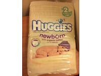 Unopened size 2 newborn nappies