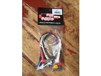 Guitar / Studio / Instrument Patch Leads / Cables - 1ft / 2ft / 3ft Available
