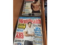 Collection of men's health magazines