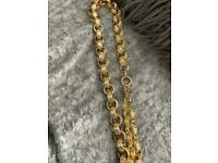 """Fantastic Heavy XXL GP Patterned 24"""" Belcher Chain, 226g, WILLING TO POST"""