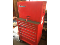 Snap on tool chest 7 drawer plus top drawer chest