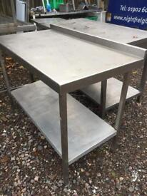 Assorted stainless steel catering tables / prep tables