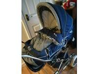 Vintage sliver cross country classic pram