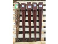 5 x Metal Fence Wooden Post spikes