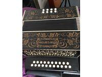 Barcarole melodeon accordion 21 treble 8 bass excellent condition