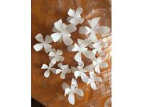 Beautiful flower wall decorations in PVC