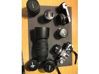 Blackmagicdesign camera Olympus plus 8 lenses