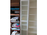 Ikea 40cm x 202 cm Billy bookcase with glass Oxberg door