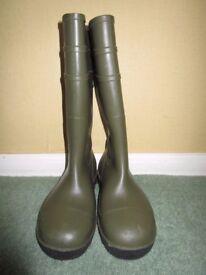 Dunlop Green Safety Wellies Steel Toe Cap Men's Size 5/38