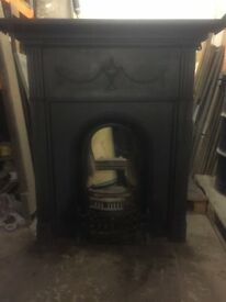 Cast Iron Victorian fire surround and grate