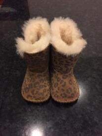 Baby Uggs boots - Leopard print 'Cassie' (size 2)