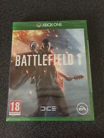 Brand new Battlefield 1 game still sealed, unused Christmas present.