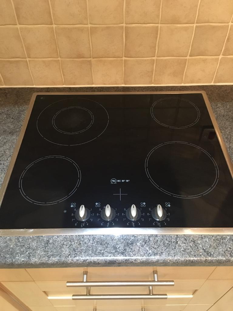NEFF black glass hob. T1243N0 kitchen appliance great condition CUMBRIA