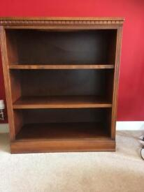Solid cherry bookcase.