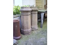 2 Victorian octagonal chimney pots, buyer to collect.