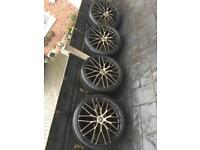 "19"" AC syclone BMW alloy wheels"
