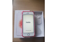 BRAND NEW Condition i Phone SE Massive 64GB Memory Rose Gold UNLOCKED Any Network In Box