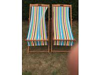 Pair of deckchairs