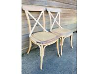 Pair of Bentwood Bergere Kitchen Dining Chairs