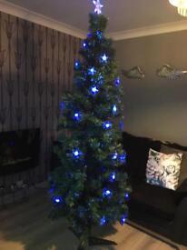 7 ft fibre optic Christmas tree
