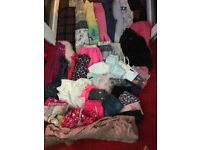 Mixed bundle of girls clothes aged 9 to 10