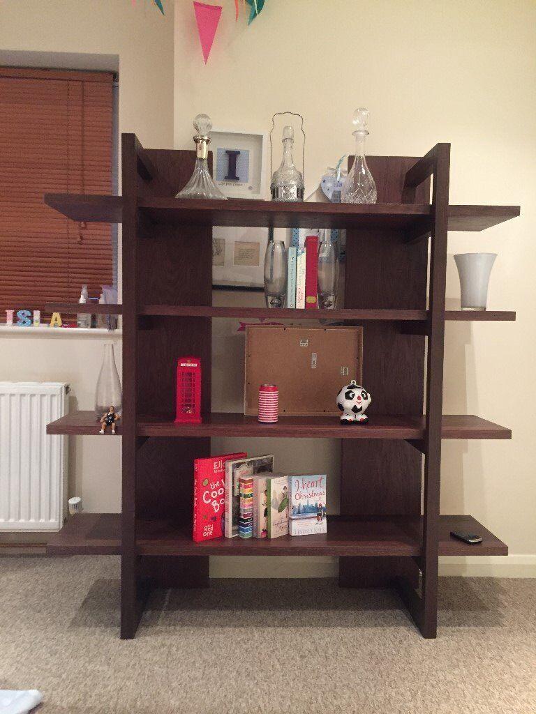 Lyon Walnut Open Shelf Unit