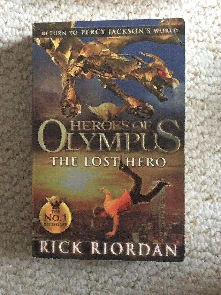 The first three books of the Heroes of Olympus series by Rick Riordan (can also be sold seperately)