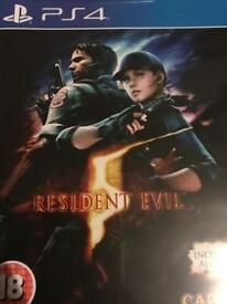 Resident Evil 5: a PS4 game