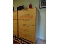 2 x matching wood veneer drawers (6 drawers each)