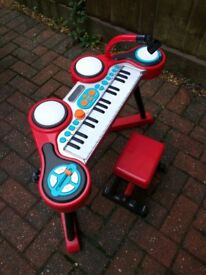 Childrens Keyboard and drumset