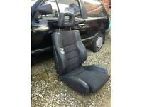 Camper van seats - half leather