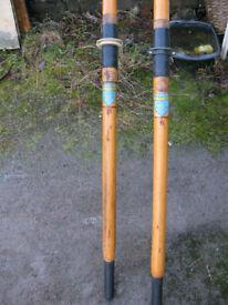Vintage rowing oars.