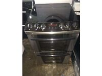 Black/stainless steel zanussi 60cm ELECTRIC COOKER, 4 MONTHS WARRANTY, FREE LOCAL DELIVERY