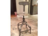 Excellent quality distressed metal kitchen bar stool