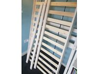 White Wooden Cabin bed with Mattress