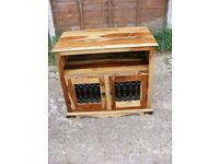 Sheesham Hardwood Rosewood Indian Solid Wood Iron TV Plasma Cabinet Unit Stand