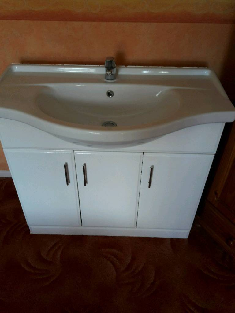 Large bathroom sink and unit