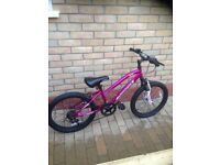 Girls 20 inch pink bike muddy fox