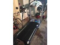 Power treadmill with incline