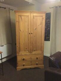 Sold pine wardrobe (tall boy)