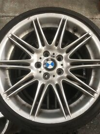 19 inch b MW front alloy with run flat tyres on